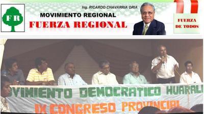 """Movimiento Político """"Fuerza Regional"""" va en ascenso hacia la presidencia regional de Lima"""