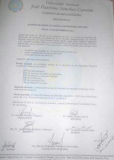 Habrá examen complementario 2011-II en UNJFSC,  luego de reclamo de postulantes y padres de familia