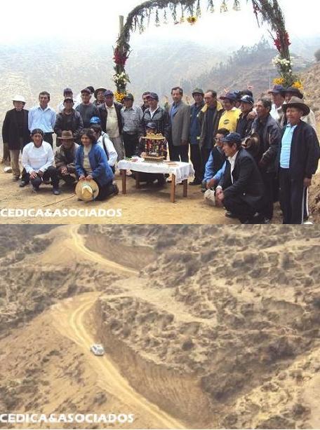 Alcalde de San Miguel de Acos inaugura carretera de Parantama a Huascoy
