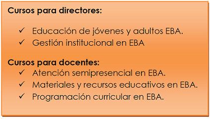Convocan a capacitación de docentes y directores de EBA