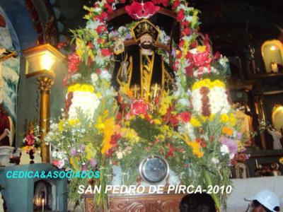 Tristeza en los pirqueños: imagen del Santo patrón San Pedro de Pirca se calcinó.
