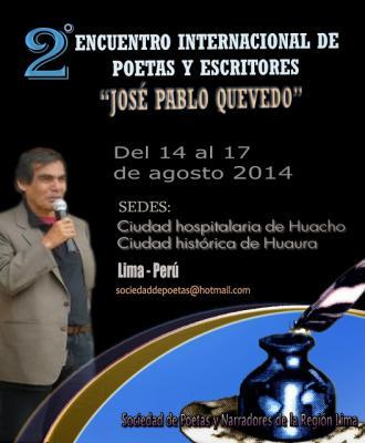 """En Huacho: II Encuentro Internacional de Poetas y Narradores """"José Pablo Quevedo"""" 2014"""